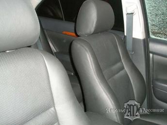 Перетяжка сидений и дверных вставок натуральной кожей Toyota Avensis (Тойота Авенсис)