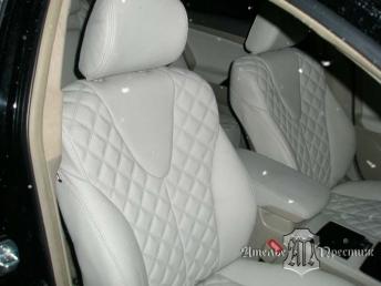 Перетяжка сидений и дверных вставок натуральной кожей Toyota Camry (Тойота Камри) 2009