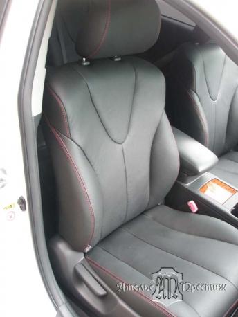 Перетяжка сидений и дверных вставок натуральной кожей Toyota Camry (Тойота Камри) 2011