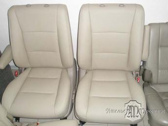 Перетяжка сидений натуральной кожей Toyota Land Cruiser (Тайота Ленд Круизер)