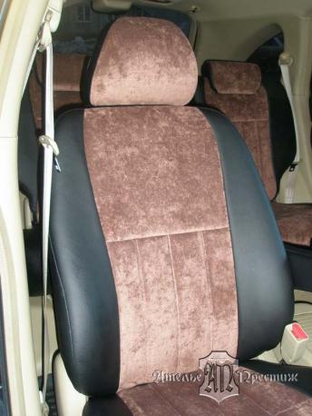 Honda CR-V (Хонда) экокожа + велюр