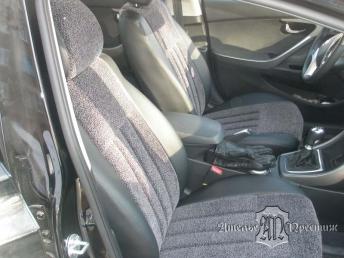 Hyundai Elantra (Хендай Элантра) 2012 экокожа + велюр