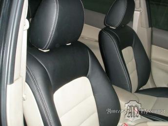 Перетяжка сидений и дверных вставок Mazda Atenza (Мазда Атенза) экокожей Hortica