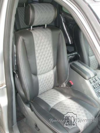 Перетяжка сидений и дверных вставок Mercedes ML (Мерседес МЛ) 350 экокожей Hortica